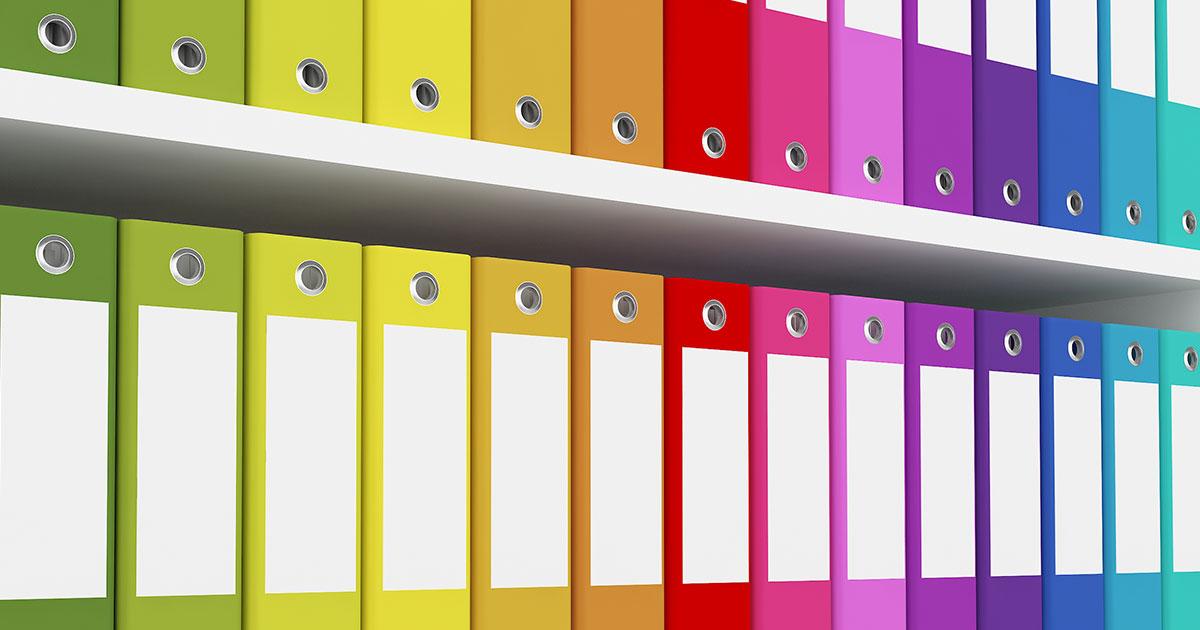 Färgsorterat arkiv